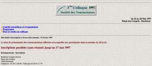 3e Colloque - Bordeaux 1997