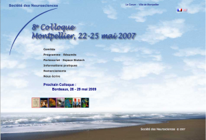 8e Colloque - Montpellier 2007